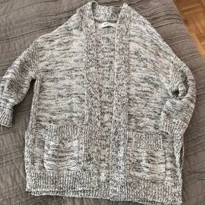 Zara cable knitted cardigan with pockets .